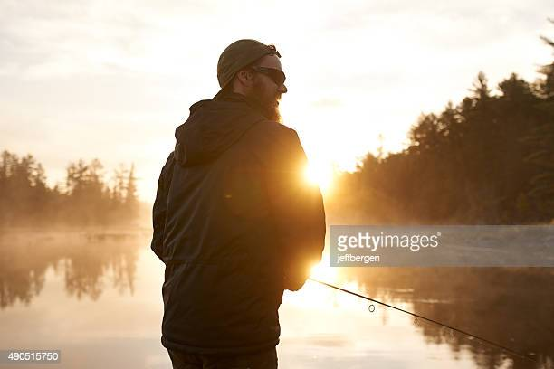 He fell in love with fishing...hook, line and sinker
