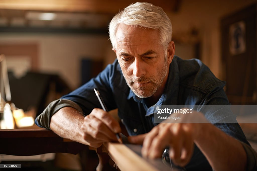 He had an eye for detail : Stock Photo