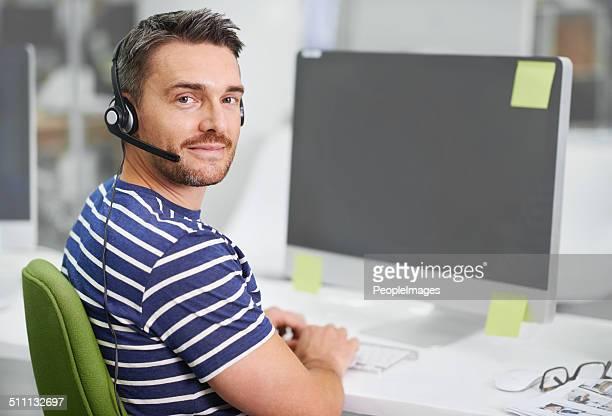 he handles customers like a pro - telefoonberoep stockfoto's en -beelden