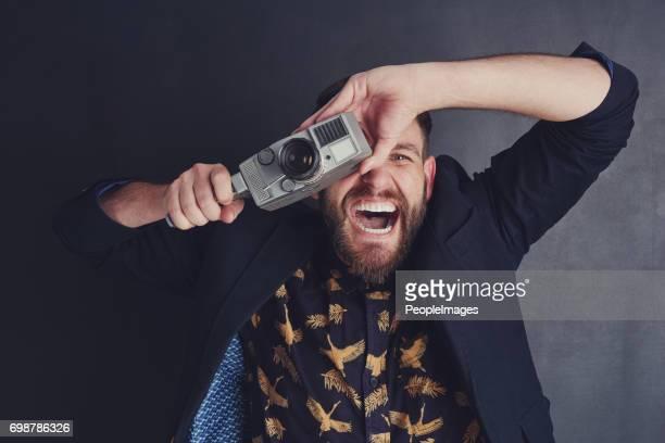 Il a un enthousiasme spéciaux pour appareils photo à pellicule