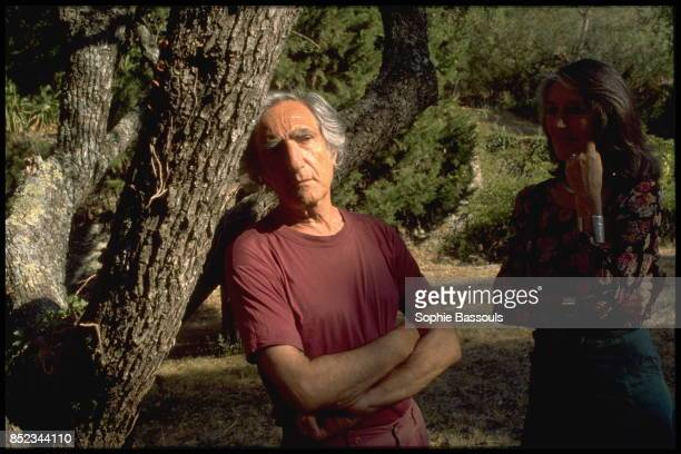 He has published 'L'origine du monde' Here he is seen at home at La Beate in the Var region with his wife Daniele