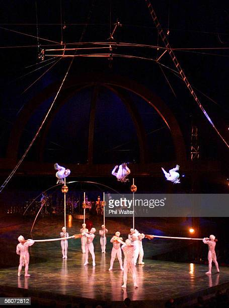 T he House Troupe perform on the Russian Bar's in the production of Alegria produced by the Cirque du Soleil during the dress rehersal Tuesday
