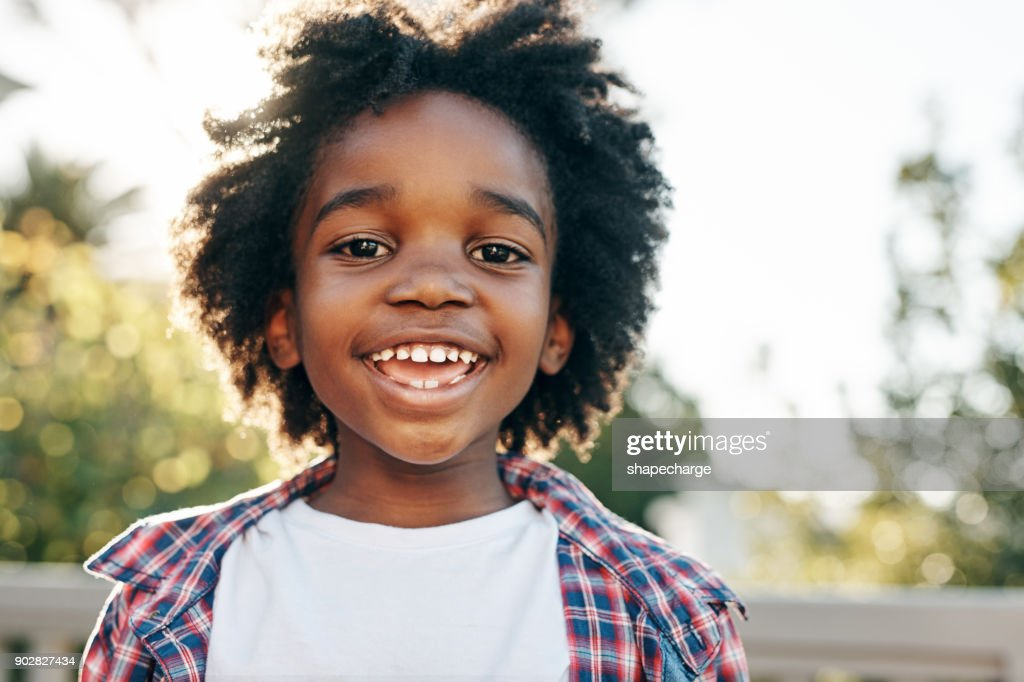 He is a summer child : Stock Photo