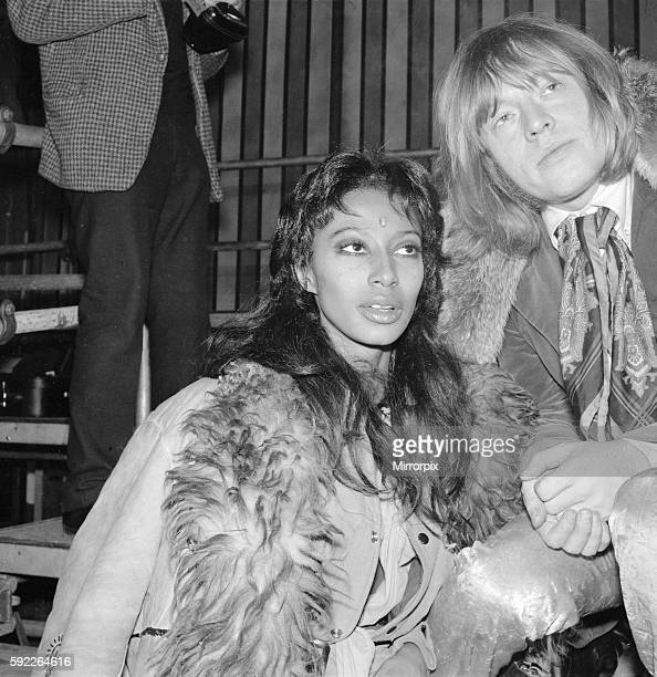 he is pictured with model Donyale Luna who played the part of the fire eaters assistant in the Rock 'n' Circus 11th December 1968