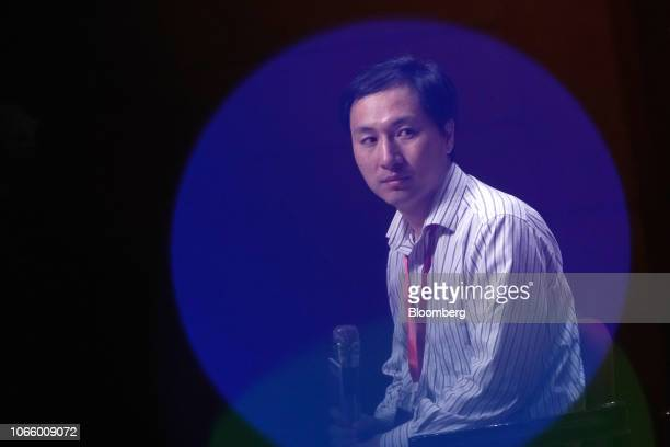 He Jiankui associate professor at the Southern University of Science and Technology of China attends a panel discussion at the Second International...