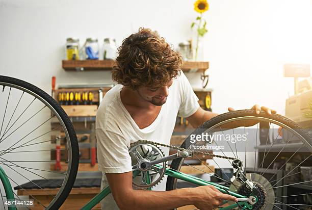 He knows his way around a bicycle