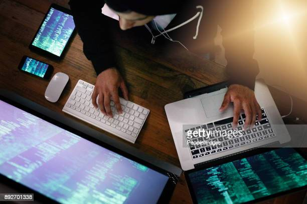 he knows how to exploit weaknesses in every cyber system - brilliant stock photos and pictures