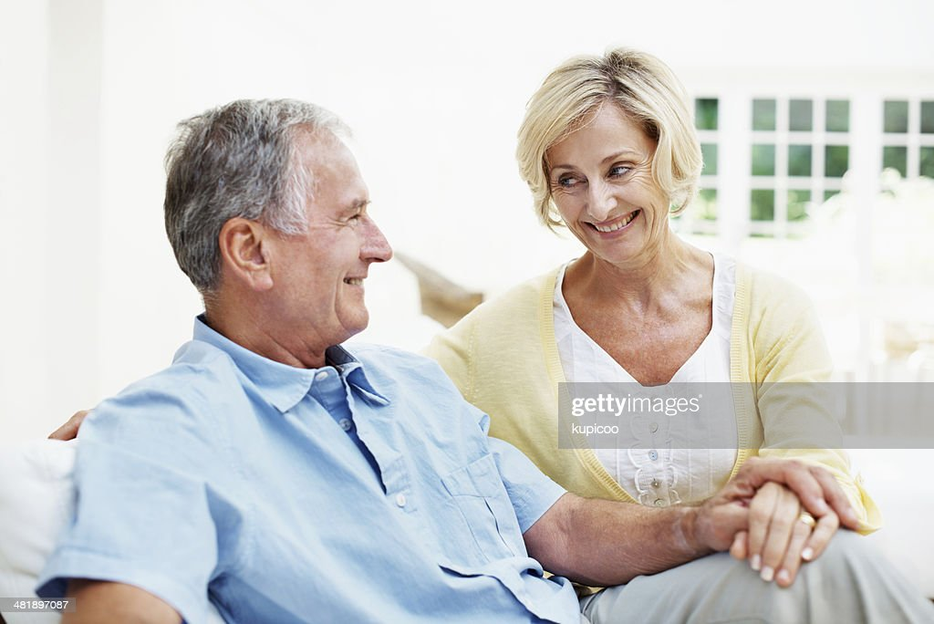 He knows what she's thinking : Stock Photo
