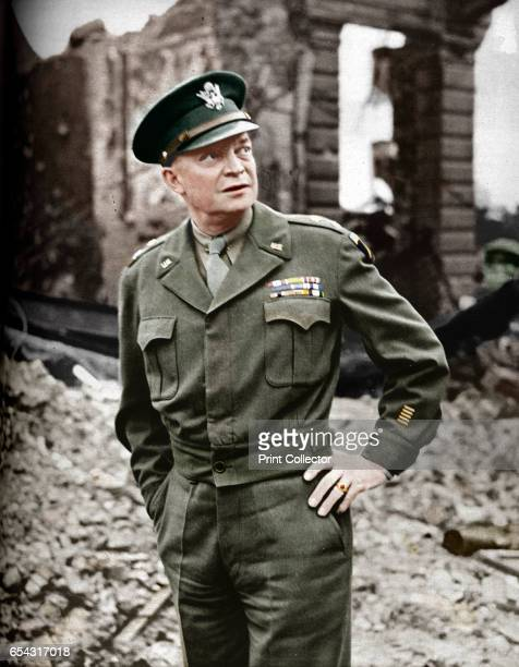 He Led Our Liberating Armies to Victory 1942 Dwight David Ike Eisenhower Supreme Allied Commander of the Allied Expeditionary Force during World War...