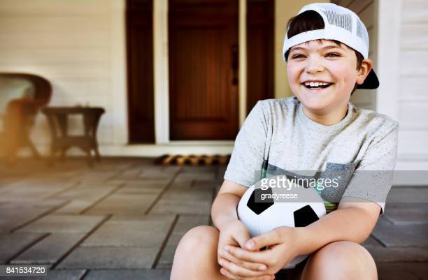 He looks forward to soccer practice