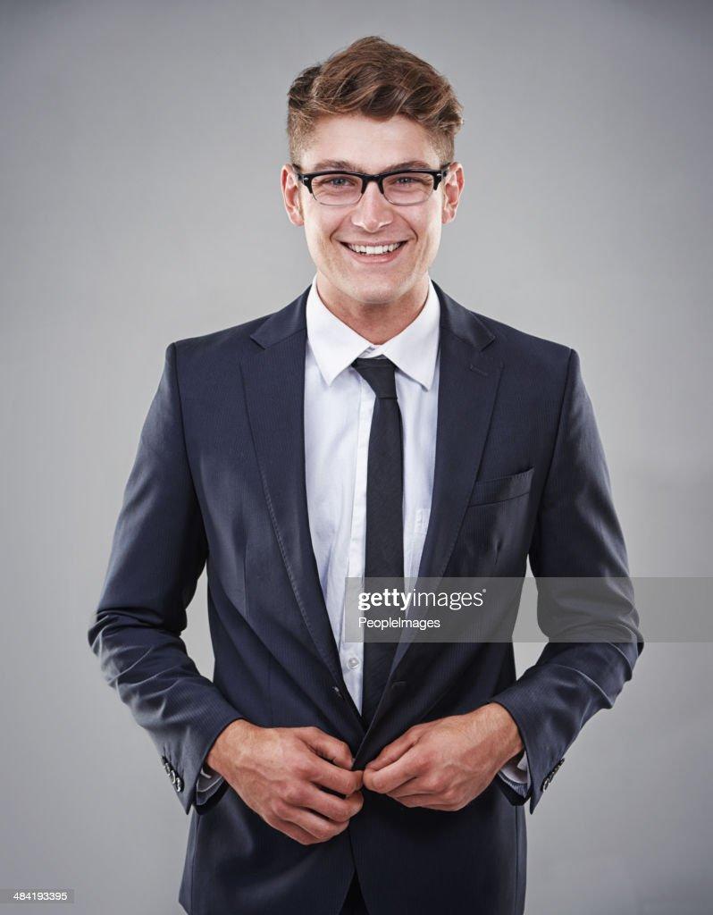 He looks stylish and smart! : Stock Photo