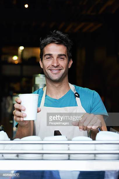 He makes the best cup of coffee in town!