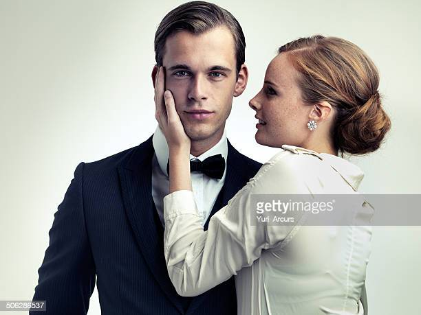 he makes them weak at the knees - evening wear stock pictures, royalty-free photos & images