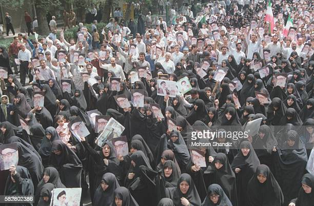 he march was organized by the conservative movement in favor of Iranian Supreme Leader Ali Khamenei to counter the student protests