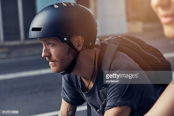 He never cycles without his helmet