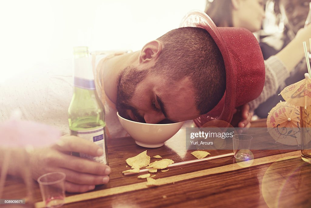 He partied too hard : Stock Photo