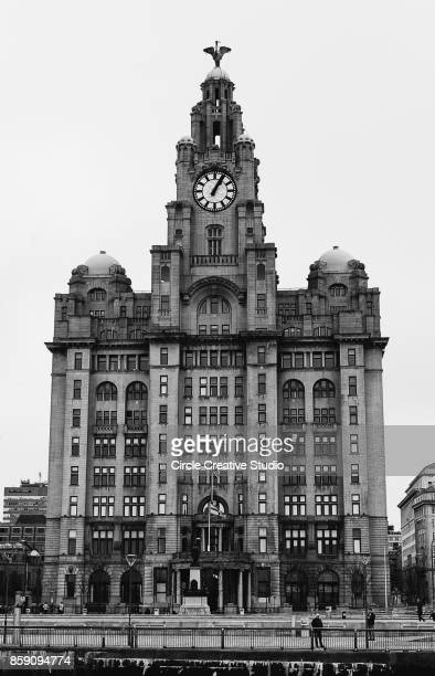 he Royal Liver Building at Pier Head in Liverpool