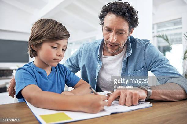 He takes an active role in his son's education