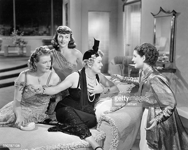 He tells me he has been at the stable but no horse ever smelled of perfume confesses Countes Mary Boland to Norma Shearer Phylis Povah and Paulette...
