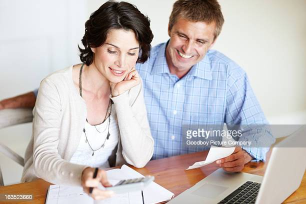 He trusts her with their finances