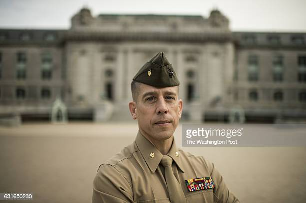 he United States Naval Academy Major Mark Thompson accused of having sex with two students is photographed at the Academy in Annapolis Maryland on...