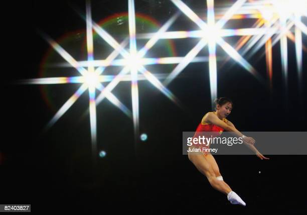 He Wenna of China competes in the trampoline womens final gymnastics event at the National Indoor Stadium on Day 10 of the Beijing 2008 Olympic Games...