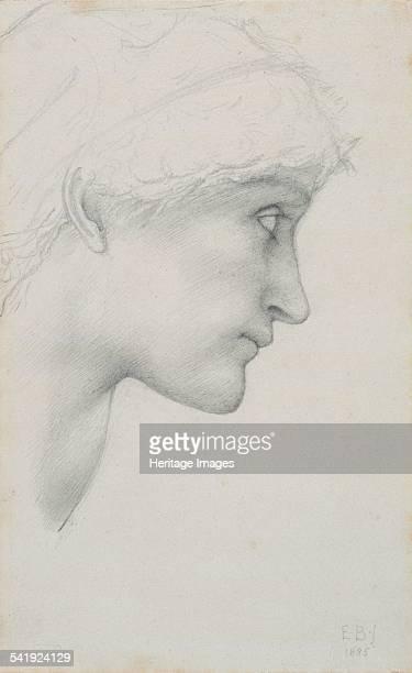 Head' 1885 Artist Sir Edward Coley BurneJones