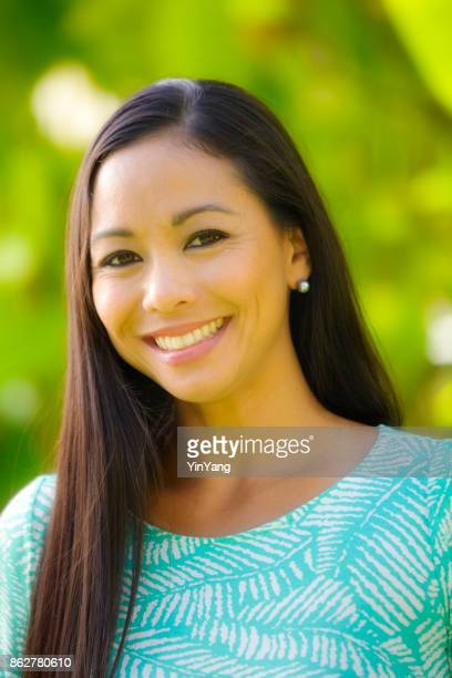 Head and Shoulder Portrait of a Hawaiian Polynesian Young Woman