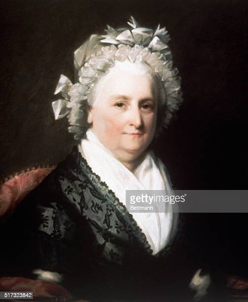 Head and shoulder portrait of First Lady Martha Washington After Stuart and Peal Undated
