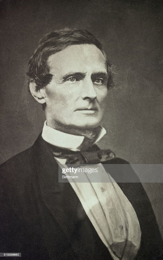 Head and shoulder portrait of Jefferson Davis as a young man, (1808-1889). He later became President of the Confederate States of America.