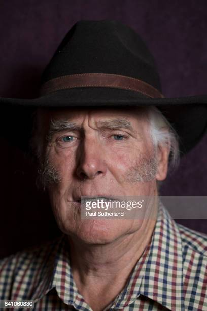 head and shoulders of a senior man wearing a cowboy hat. - sideburn stock pictures, royalty-free photos & images