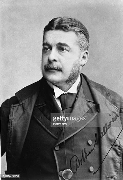Head and shoulders of Sir Arthur Sullivan British composer of comic opera with W S Gilbert Photograph by Walery London