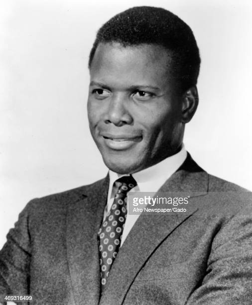 A head and shoulders portrait of actor Sidney Poitier 1970