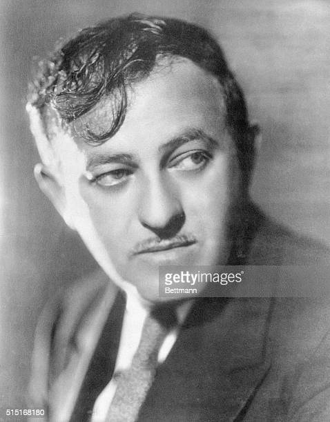 Head and shoulders portrait of author, columnist, and playwright Ben Hecht . Hecht wrote for the Chicago Tribune, Chicago Daily News and the New York...
