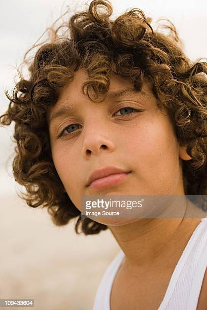Head and shoulders portrait of boy
