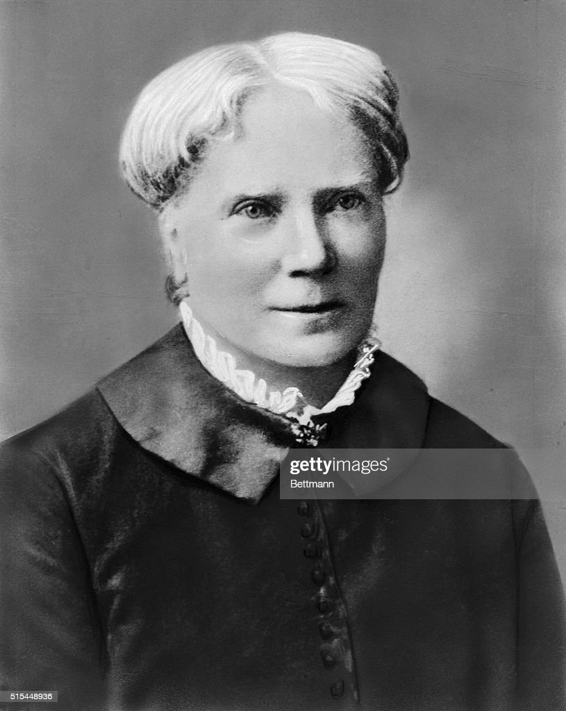 Head and shoulders portrait of Elizabeth Blackwell (1821-1910), the first woman (in 1849), to receive a medical degree in the U.S. Undated photograph.