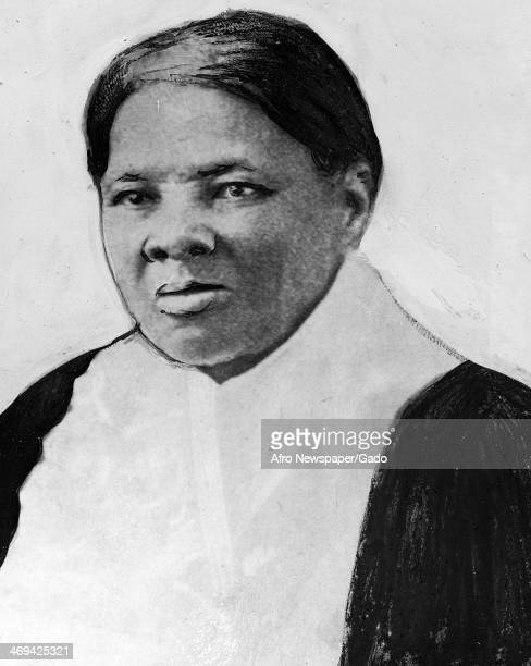 A head and shoulders portrait of Harriet Tubman born Araminta Harriet Ross a former slave and abolitionist and humanitarian 1870