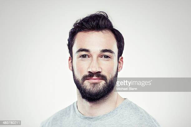 head and shoulders portrait - beard stock pictures, royalty-free photos & images