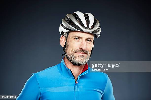 head and shoulders portrait - cycling helmet stock pictures, royalty-free photos & images