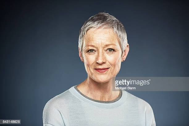 head and shoulders portrait - one mature woman only stock pictures, royalty-free photos & images