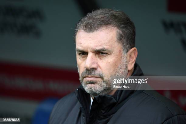 Head cach Ange Postecoglou of Yokohama FMarinos looks on prior to the JLeague J1 match between Urawa Red Diamonds and Yokohama FMarinos at Saitama...