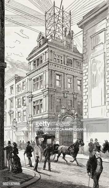 Head central office of the United Telephone Company Coleman Street London United Kingdom illustration from The Graphic volume XXVIII no 718 September...