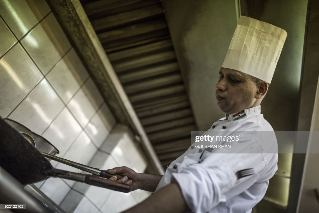 Head Chef of Geet Restaurant Kamal Singh, who has worked in the restaurant for the past five years, works in the kitchen in Pretoria on February 20, 2018. The restaurant is the choice caterer for the Indian cricket team during their visits to play in South Africa. /