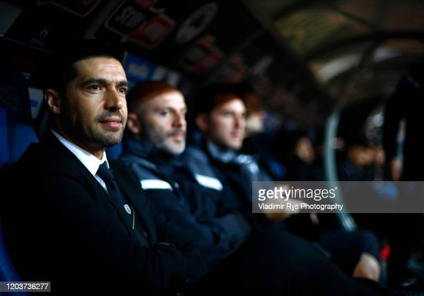 Head Coach Abel Ferreira is pictured during the Greece SuperLeague match between Panathinaikos FC and P.A.O.K. At OAKA Stadium on February 02, 2020...