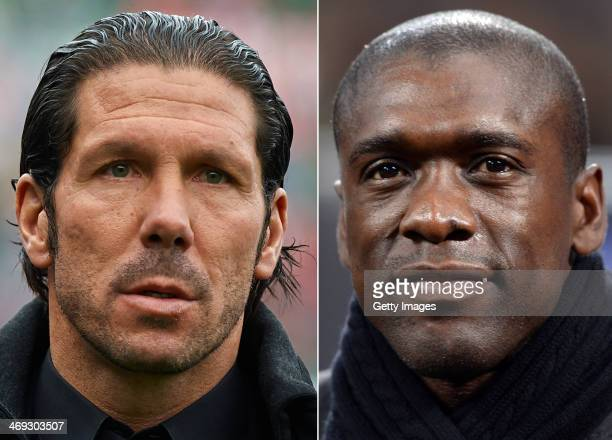 IMAGES Image Numbers 452644261 and 464384693 In this composite image a comparison has been made between Head coach Diego Simeone of Atletico de...