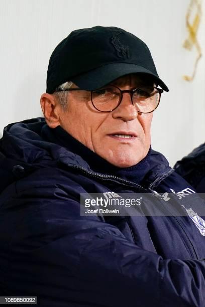 head coach Adam Nawalka of Lech Posen during the SK Sturm Graz v Lech Posen Friendly Match at Calista Sportcenter on January 26 2019 in Belek Turkey