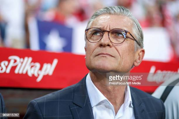 Head coach Adam Nawalka of Poland during International Friendly match between Poland and Chile on June 8 2018 in Poznan Poland