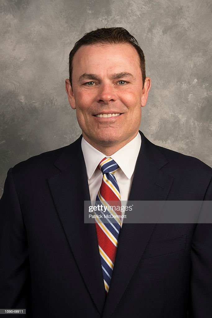 Head coach Adam Oates of the Washington Capitals poses for his official headshot for the 2012-2013 season on January 13, 2013 at the Kettler Capitals Iceplex in Arlington, Virginia.