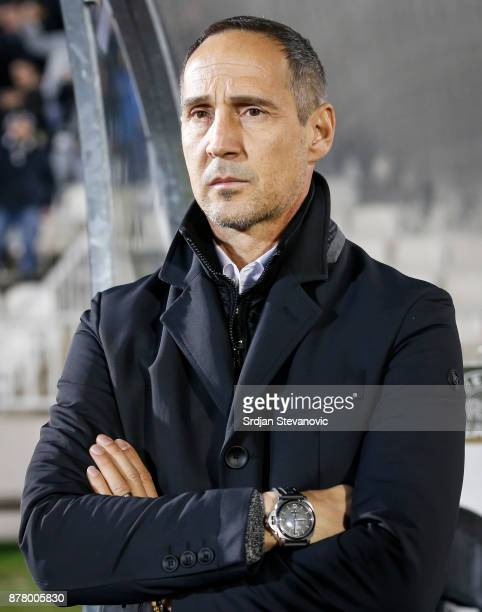 Head Coach Adi Hutter Of Young Boys Looks On Prior To The Uefa Europa League Group