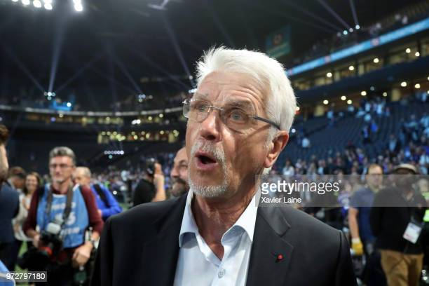 Head coach Aime Jacquet of France 98 reacts during the Friendly match between France 98 and FIFA 98 at U Arena on June 12 2018 in Nanterre near Paris...